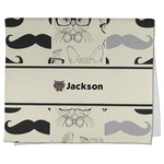 Hipster Cats & Mustache Kitchen Towel - Full Print (Personalized)