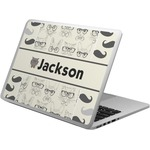 Hipster Cats & Mustache Laptop Skin - Custom Sized (Personalized)