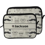 Hipster Cats & Mustache Laptop Sleeve / Case (Personalized)