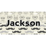 Hipster Cats & Mustache Front License Plate (Personalized)