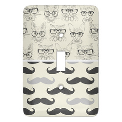 Hipster Cats & Mustache Light Switch Covers - Multiple Toggle Options Available (Personalized)