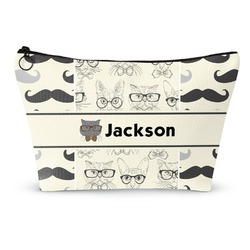 Hipster Cats & Mustache Makeup Bags (Personalized)