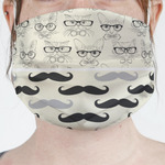 Hipster Cats & Mustache Face Mask Cover (Personalized)