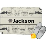 Hipster Cats & Mustache Memory Foam Bath Mat (Personalized)