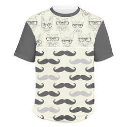 Hipster Cats & Mustache Men's Crew T-Shirt (Personalized)
