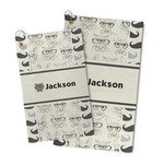 Hipster Cats & Mustache Microfiber Golf Towel (Personalized)