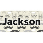 Hipster Cats & Mustache Mini / Bicycle License Plate (Personalized)
