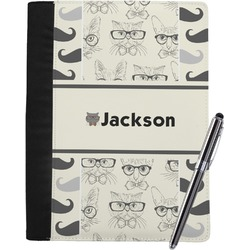 Hipster Cats & Mustache Notebook Padfolio (Personalized)