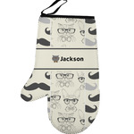 Hipster Cats & Mustache Left Oven Mitt (Personalized)