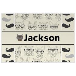 Hipster Cats & Mustache Placemat (Laminated) (Personalized)