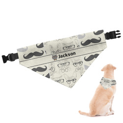 Hipster Cats & Mustache Dog Bandana (Personalized)