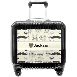 Hipster Cats & Mustache Pilot / Flight Suitcase (Personalized)