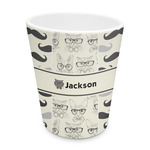 Hipster Cats & Mustache Plastic Tumbler 6oz (Personalized)