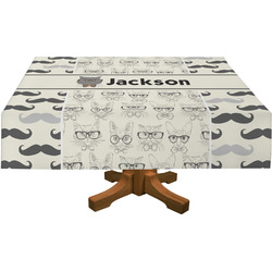 Hipster Cats & Mustache Tablecloth (Personalized)