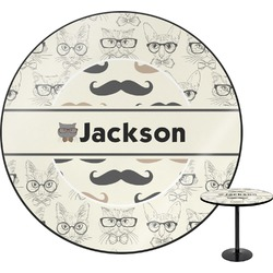 Hipster Cats & Mustache Round Table (Personalized)