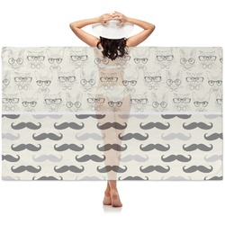 Hipster Cats & Mustache Sheer Sarong (Personalized)