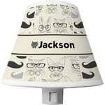Hipster Cats & Mustache Shade Night Light (Personalized)