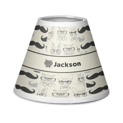 Hipster Cats & Mustache Chandelier Lamp Shade (Personalized)