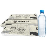 Hipster Cats & Mustache Sports & Fitness Towel (Personalized)