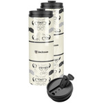 Hipster Cats & Mustache Stainless Steel Skinny Tumbler (Personalized)