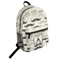 Hipster Cats & Mustache Student Backpack (Personalized)