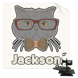 Hipster Cats & Mustache Sublimation Transfer (Personalized)