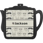 Hipster Cats & Mustache Teapot Trivet (Personalized)