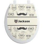 Hipster Cats & Mustache Toilet Seat Decal (Personalized)