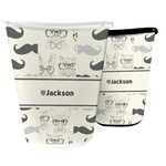 Hipster Cats & Mustache Waste Basket (Personalized)