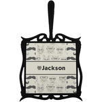 Hipster Cats & Mustache Trivet with Handle (Personalized)