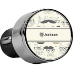 Hipster Cats & Mustache USB Car Charger (Personalized)