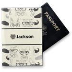 Hipster Cats & Mustache Vinyl Passport Holder (Personalized)