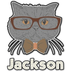 Hipster Cats & Mustache Graphic Decal - Custom Sized (Personalized)