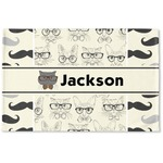 Hipster Cats & Mustache Woven Mat (Personalized)