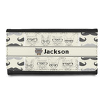 Hipster Cats & Mustache Leatherette Ladies Wallet (Personalized)