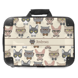 Hipster Cats Hard Shell Briefcase (Personalized)