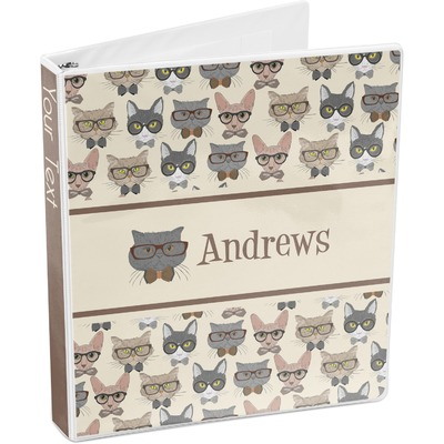 Hipster Cats 3-Ring Binder (Personalized)