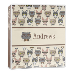 Hipster Cats 3-Ring Binder - 1 inch (Personalized)