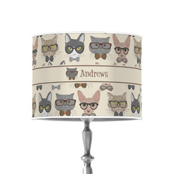 """Hipster Cats 8"""" Drum Lamp Shade - Poly-film (Personalized)"""