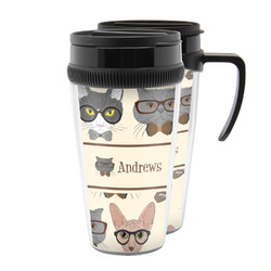 Hipster Cats Acrylic Travel Mugs (Personalized)