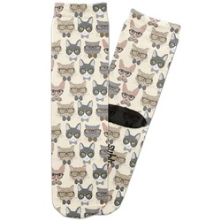 Hipster Cats Adult Crew Socks (Personalized)