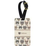 Hipster Cats Aluminum Luggage Tag (Personalized)
