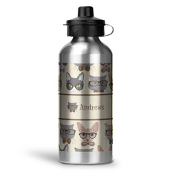 Hipster Cats Water Bottle - Aluminum - 20 oz (Personalized)