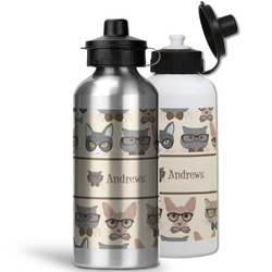 Hipster Cats Water Bottles- Aluminum (Personalized)