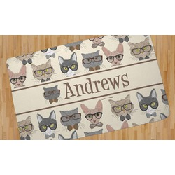 Hipster Cats Area Rug (Personalized)