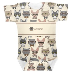 Hipster Cats Baby Bodysuit (Personalized)