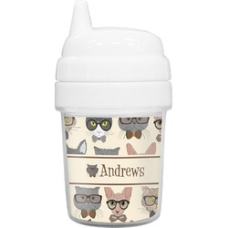 Hipster Cats Baby Sippy Cup (Personalized)