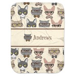 Hipster Cats Baby Swaddling Blanket (Personalized)