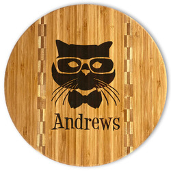 Hipster Cats Bamboo Cutting Board (Personalized)