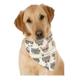 Hipster Cats Dog Bandana Scarf w/ Name or Text